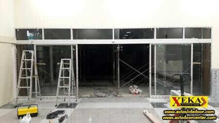 ประตูเลื่อนอัตโนมัติ @ โรงพยาบาลพหลพลพยุหเสนา กาญจนบุรี