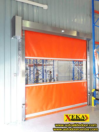 ประตูม้วนผ้าใบ PVC