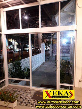 ร้านอาหารบ้านวนิดา ประตูบานเลื่อนอัตโนมัติ