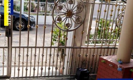 หมู่บ้านเพชรลดา ติดตั้ง ประตูรั้วเลื่อนอัตโนมัติ AUTO SLIDE GATE
